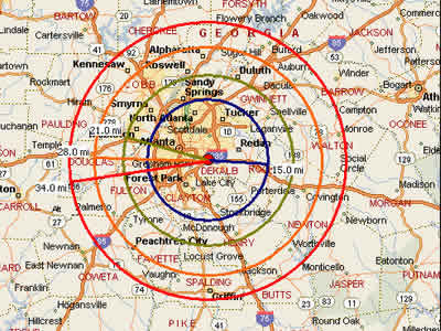 Easy Moving Labor Map For Atlanta GA Moving Labor - Atlanta georgia map zip codes