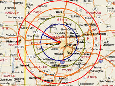 Easy Moving Labor Map for Dayton Moving Labor