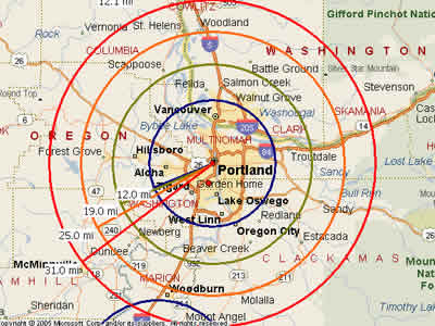 Easy Moving Labor -Map for Portland, OR Moving Labor