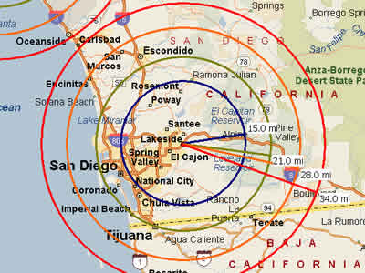 Easy Moving Labor -Map for San Diego Moving Labor