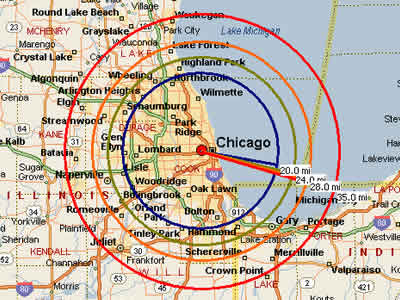 Map Of Chicago Area Easy Moving Labor  Map for Chicago, IL Map Of Chicago Area